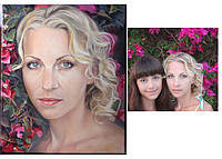 Картины маслом. нарисовать портрет по фото в Киеве. дизайн интерьера на прямую у художника