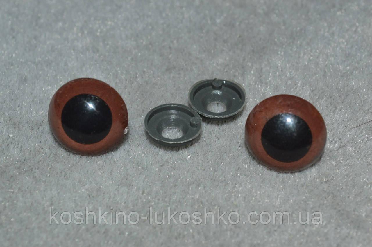 Очі для іграшок . карі 18 мм
