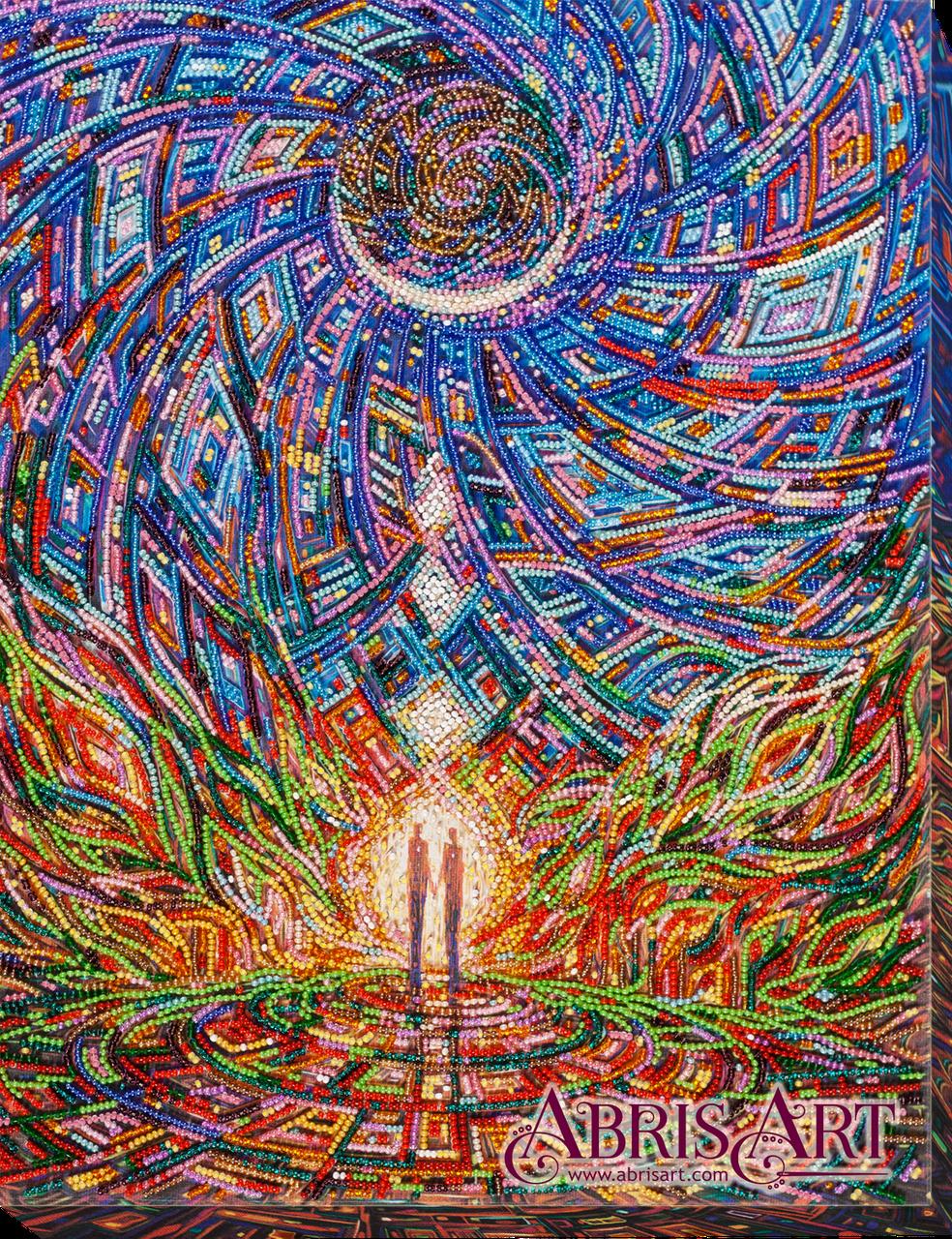 """Набор для вышивки бисером ТМ АБрис Арт на натуральном художественном холсте """"Пробуждение любви"""""""