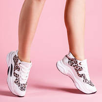 Кроссовки кожаные с леопардовым принтом Размерный ряд 36-40, фото 3