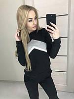 """Трикотажный спортивный костюм женский """"Ultra"""" 42-44, черный"""