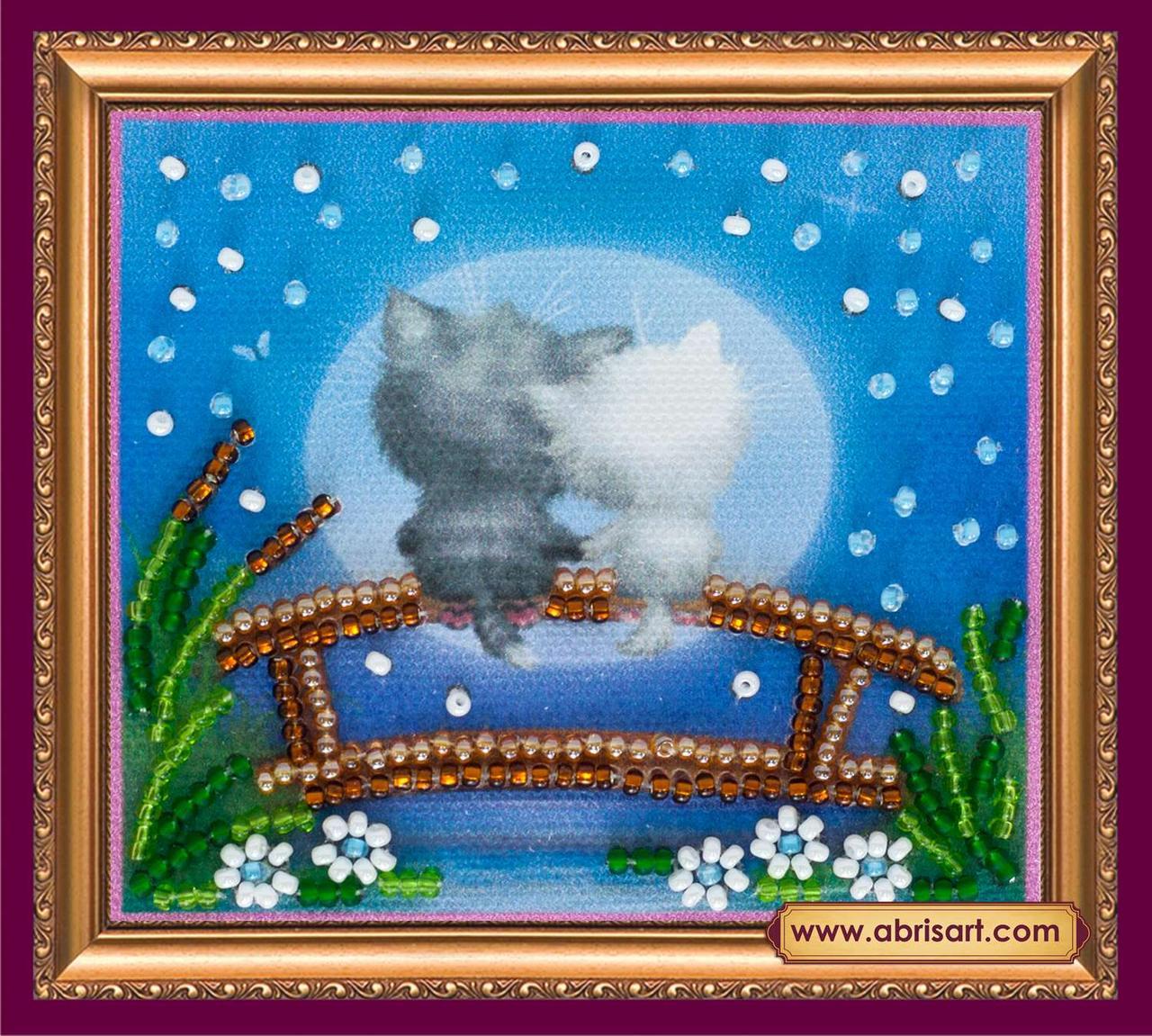 Набор для вышивки бисером ТМ АБрис Арт «Магнит» Лунные коты