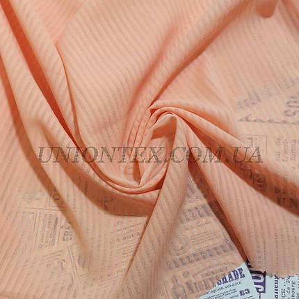 Креп-шифон полоска персиковый, фото 2