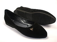 Балетки жіночі замшеві Scarab V Gold Black Vel by Rosso Avangard колір чорний, фото 1