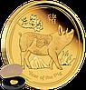 """1/10oz Золота монета """"Рік Свині 2019"""" (пруф) у футлярі"""