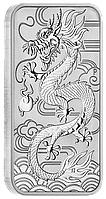 Дракон 2018 ~ Срібна прямокутнамонета (без капсули i сертифіката) у пластикових захисних боксах по 20 монет, фото 1