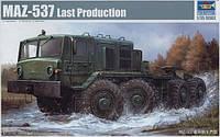 1:35 Сборная модель тягача МАЗ-537, Trumpeter 01006