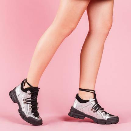 Модные женские кроссовки натуральная кожа Размерный ряд 36-40, фото 2