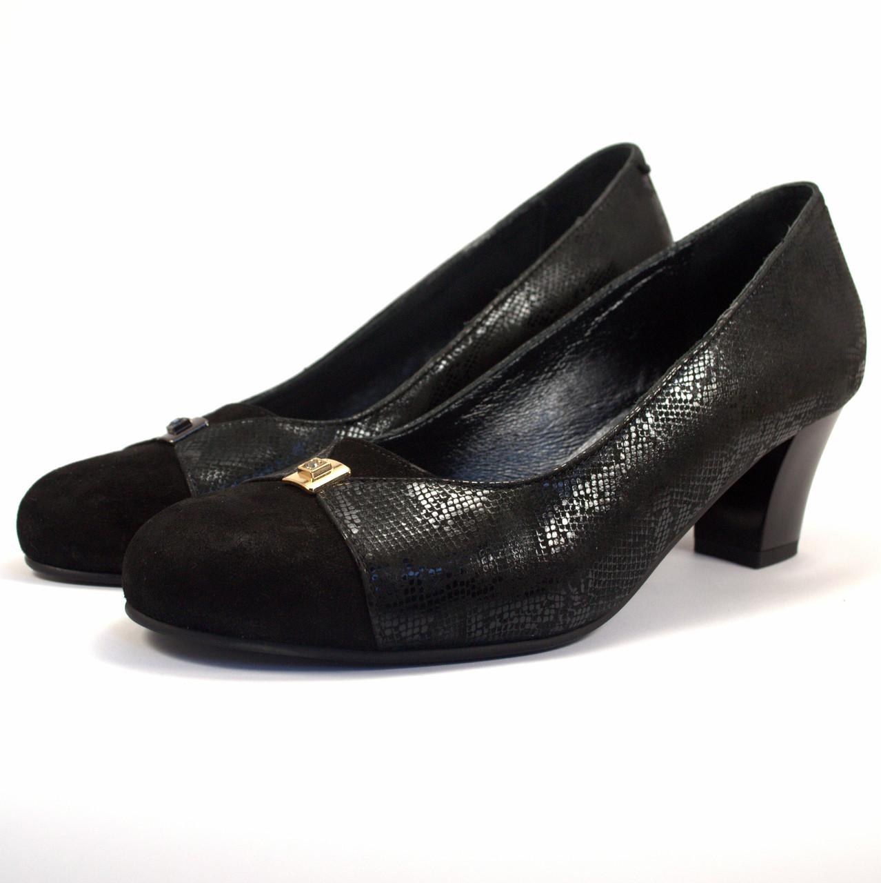 Туфли лодочка женская обувь Pyra Gold Black Lether Scales by Rosso Avangard кожаные