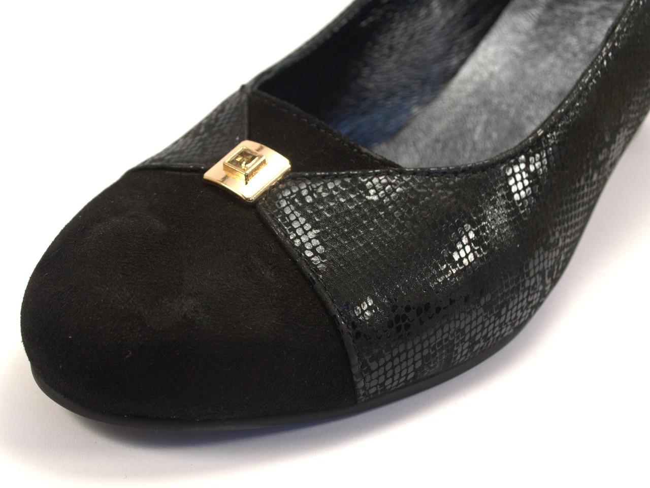 Туфли лодочка большой размер женская обувь Pyra Gold BS Black Lether Scales by Rosso Avangard кожаные