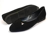 Балетки замшевые женская обувь больших размеров Scarab V Gold White Vel by Rosso Avangard цвет черный, фото 1