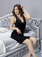 Сорочка ночная Lady Black с кружевной спинкой