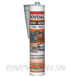 Герметик полиуретановый для дерева Soudal серый 290 мл