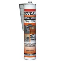 Герметик полиуретановый для дерева Soudal серый 300 мл.
