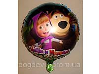 """Воздушные шарики оптом. Шарик фольгированный """"Маша и Медведь"""" диаметр 15см.,"""