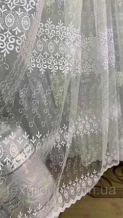 Тюль фатин белый IST-1143, фото 2