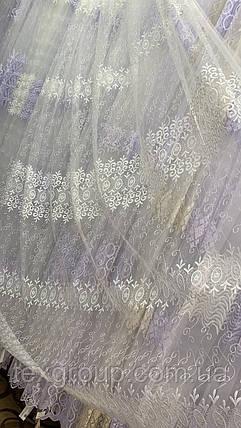 Тюль фатин кремовый  IST-1143, фото 2