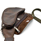 Кожаный рюкзак на одно плечо из лошадиной кожи RC-3026-3md бренд Tarwa, фото 6