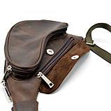 Шкіряний рюкзак на одне плече з кінської шкіри RC-3026-3md бренд Tarwa, фото 6