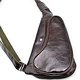 Трендовий рюкзак з натуральної шкіри на одне плече GX-3026-4lx бренд TARWA, фото 2