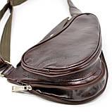 Трендовий рюкзак з натуральної шкіри на одне плече GX-3026-4lx бренд TARWA, фото 6