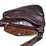 Трендовий рюкзак з натуральної шкіри на одне плече GX-3026-4lx бренд TARWA, фото 7