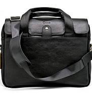 Крутая кожаная деловая сумка-порфель для ноутбука TA-1812-4lx от TARWA, фото 1