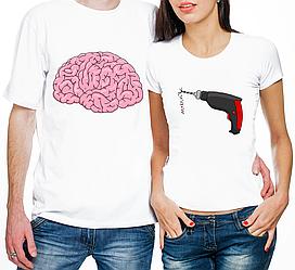 """Парные футболки """"Пилит Мозг"""" (частичная, или полная предоплата)"""