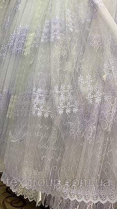 Тюль фатин белый IST-1148, фото 2