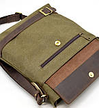 Мужская сумка парусина+кожа RH-0040-4lx Tarwa, фото 5