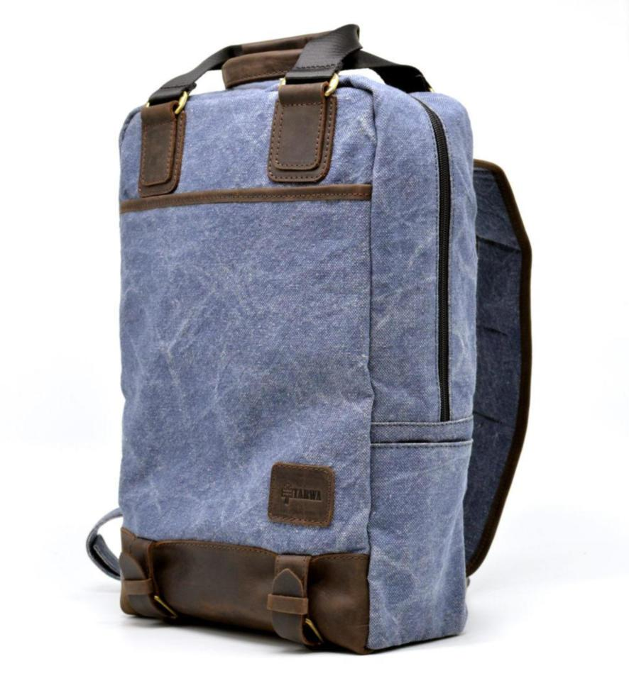 Рюкзак молодіжний парусина + шкіра RK-1210-4lx TARWA