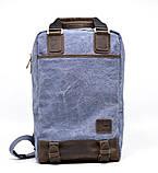 Рюкзак молодіжний парусина + шкіра RK-1210-4lx TARWA, фото 2