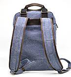 Рюкзак молодіжний парусина + шкіра RK-1210-4lx TARWA, фото 3