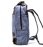 Рюкзак молодіжний парусина + шкіра RK-1210-4lx TARWA, фото 4