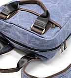 Рюкзак молодіжний парусина + шкіра RK-1210-4lx TARWA, фото 5
