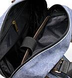 Рюкзак молодіжний парусина + шкіра RK-1210-4lx TARWA, фото 6
