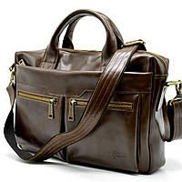 Кожаная мужская сумка для ноутбука GQ-7122-3md TARWA, фото 1