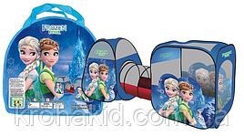 """Палатка детская SG7015FZ-B две с трубой (тоннелем), в сумке 45 см, """"Холодное сердце"""""""