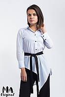 Асимметричная женская рубашка / котон / Украина 7-3-910-1, фото 1
