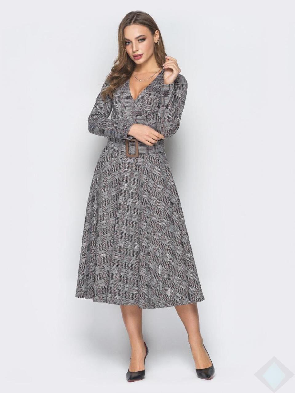 Платье Стефания клетка