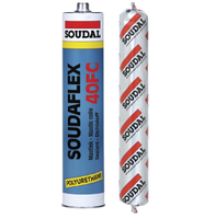 Клей-герметик полиуретановый быстроотверждающийся SOUDAFLEX 40 FC Soudal белый 600 мл.