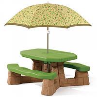 Оригинал. Детский Столик для Пикника с Зонтиком Step2 7877
