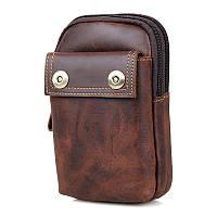 Мужская сумка – органайзер на пояс из натуральной телячьей кожи от  , фото 1