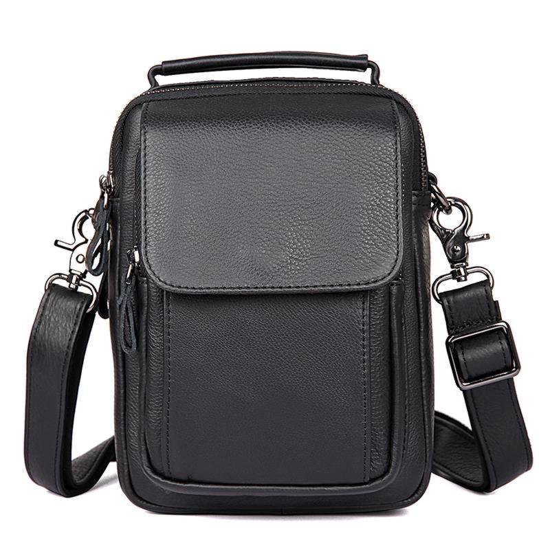 Мужская кожаная сумка через плечо 1032А, от бренда