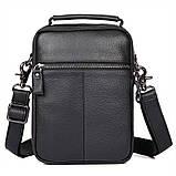Чоловіча шкіряна сумка через плече 1032А, від бренду, фото 2