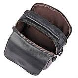Чоловіча шкіряна сумка через плече 1032А, від бренду, фото 6