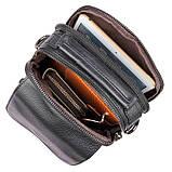 Чоловіча шкіряна сумка через плече 1032А, від бренду, фото 7