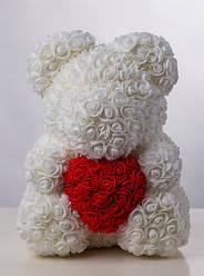 Белоснежный Белый медведь из 3D роз