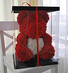 Насыщенно Красный Медведь из роз 45 см.