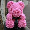 Розовый Медведь из роз лучший подарок в коробке 45 см. , фото 3